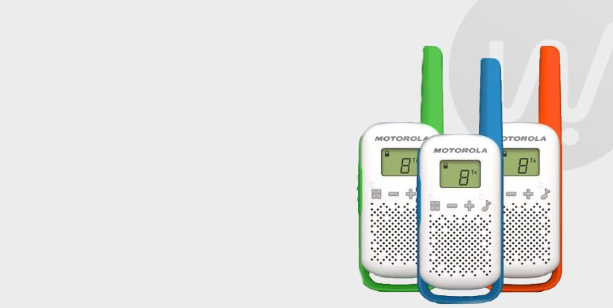 Gekleurde walkie talkies